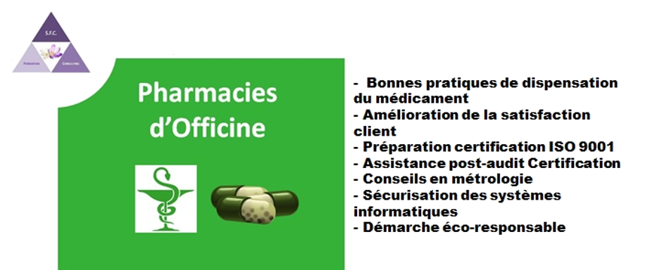 Accompagnement pharmacie officine