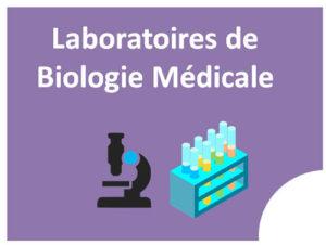 Cliquer ici pour accéder à la page Laboratoire de biologie médicale